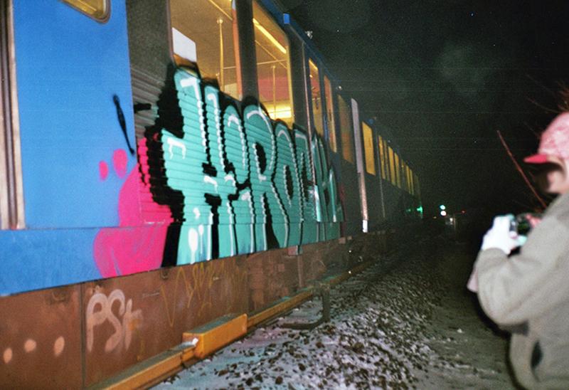 backjump brake amsterdam subway graffiti hirock