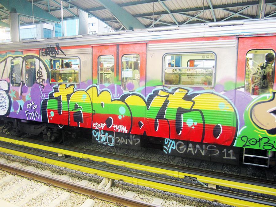 graffiti subway sen otp athens intraffic