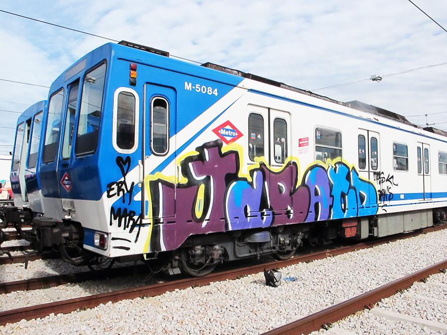 graffiti subway sen otp madrid backjump