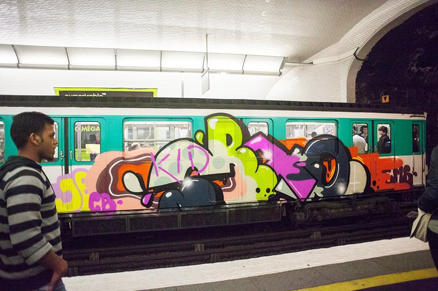 graffiti subway running paris 2014 kidcrap gms jbcb