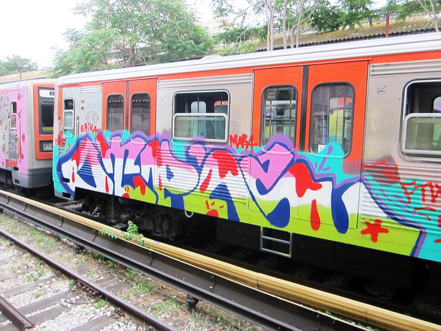 graffiti subway sen otp otp's athens running