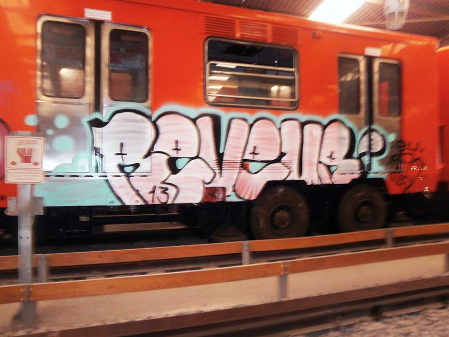 graffiti subway mexicocity yard elcuino