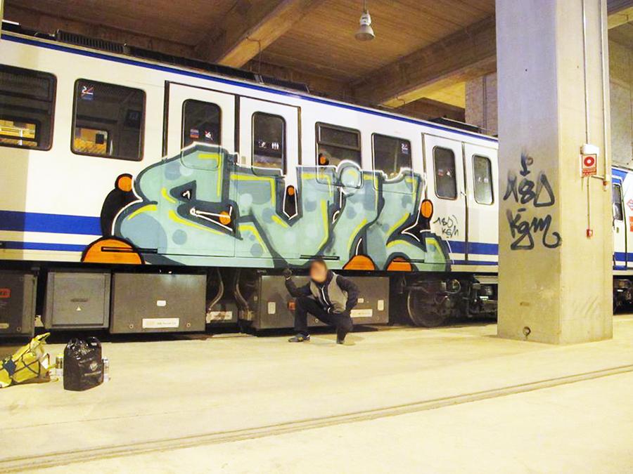 graffiti subway evil madrid 180