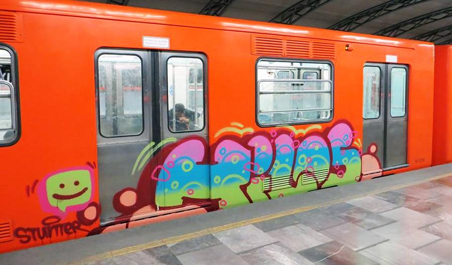 graffiti subway mexicocity running hilos