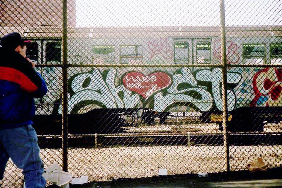 subway graffiti nyc newyork legend ghost