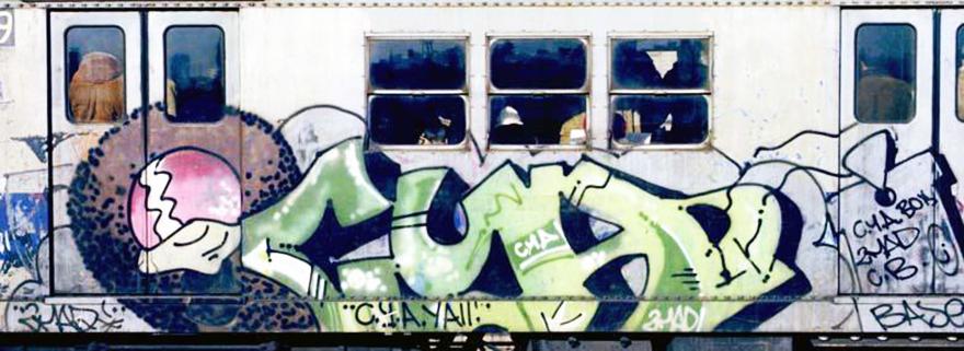 subway graffiti nyc newyork legend cya