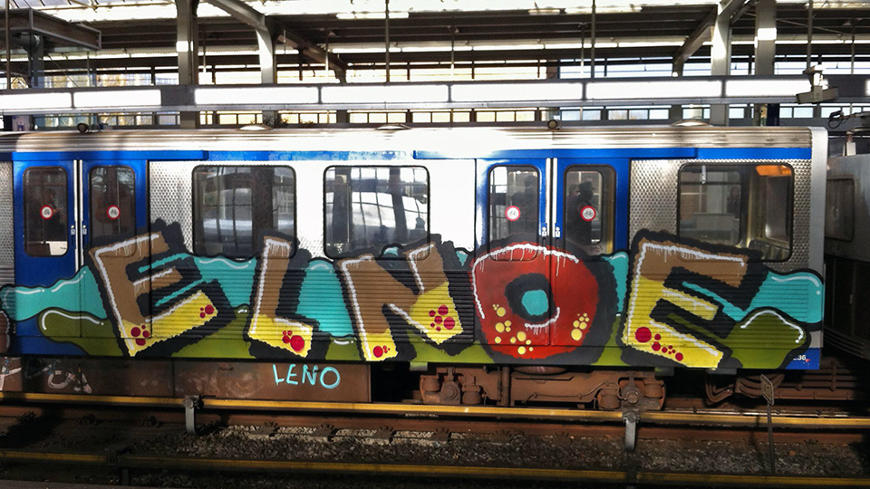 leno graffiti subway running intraffic amsterdam