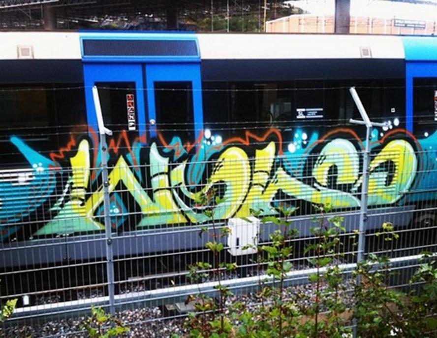 subway graffiti stockholm wol wols tunnelbana