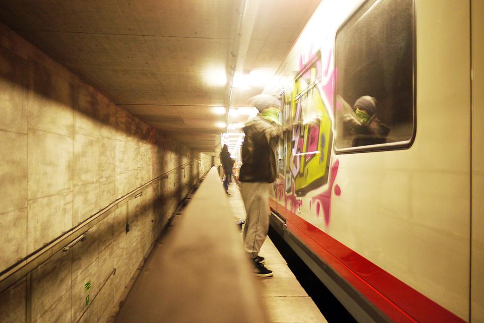 graffiti subway nuremberg action tunnel