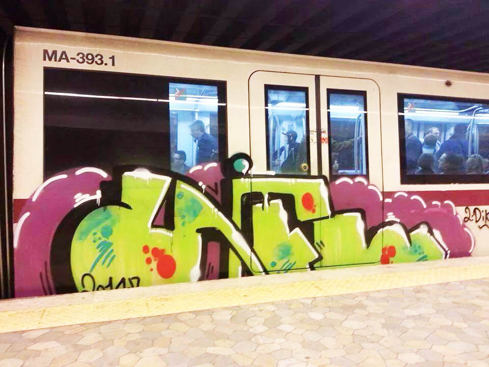 graffiti subway rome italy vifl 2014