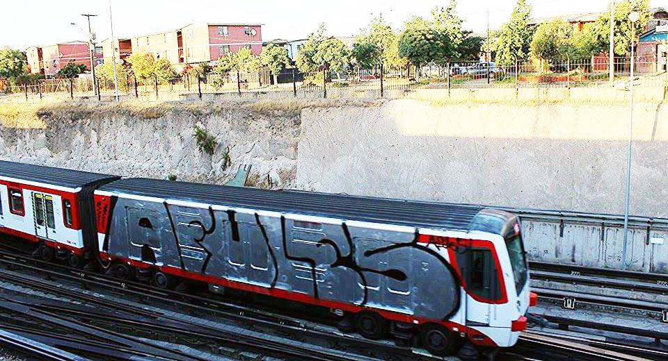 graffiti subway santiagodechile afules crew chile