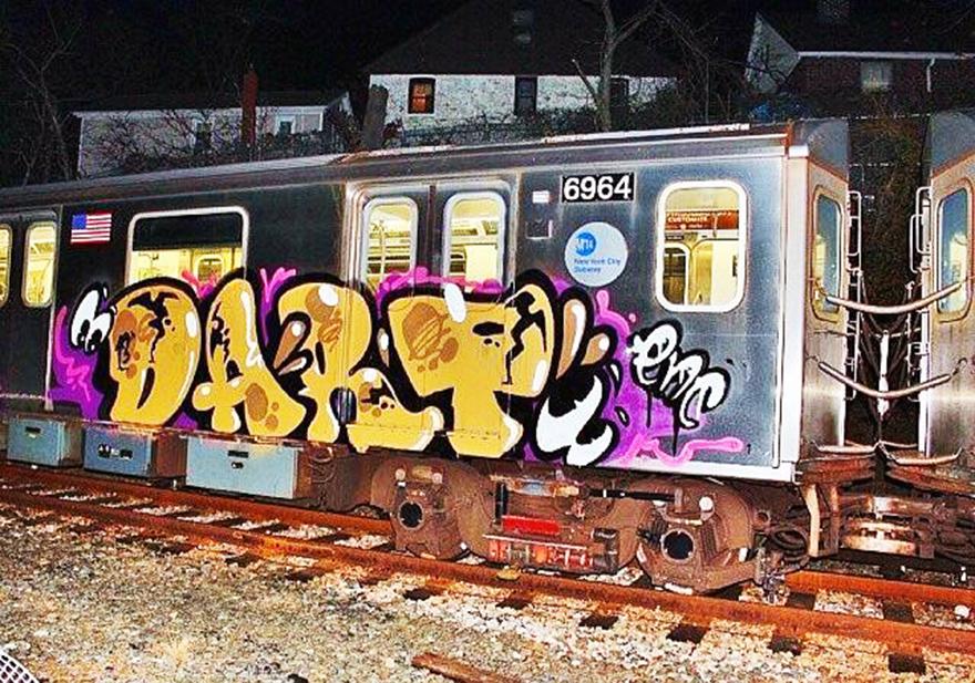 graffiti subway nyc newyork dart 2013