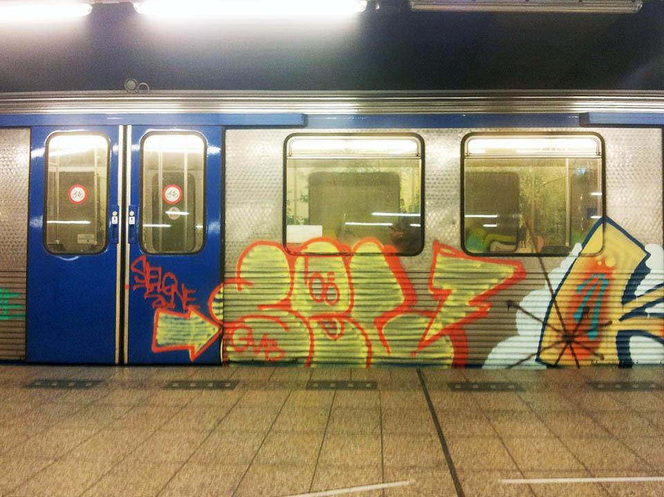 graffiti subway amsterdam holland intraffic sel gvb inc tfp