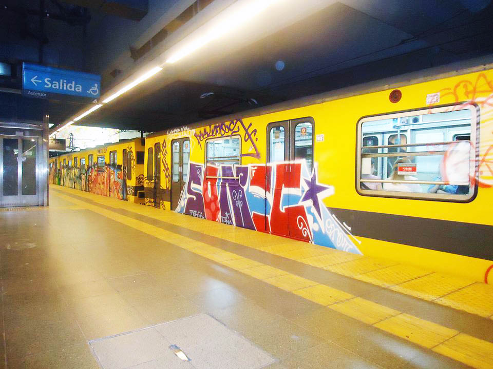 graffiti subway buenos aires argentina sonic intraffic