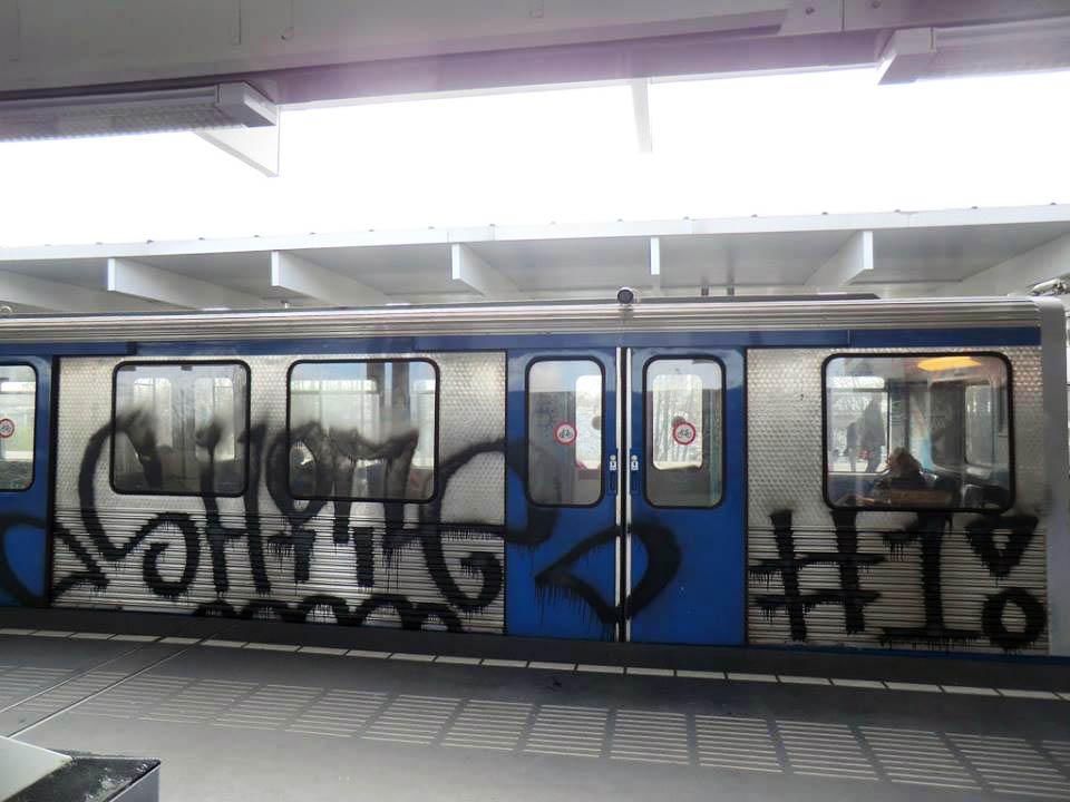 graffiti subway amsterdam holland intraffic shite