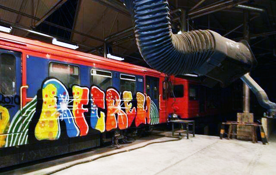 graffiti subway oslo rf crew hangar