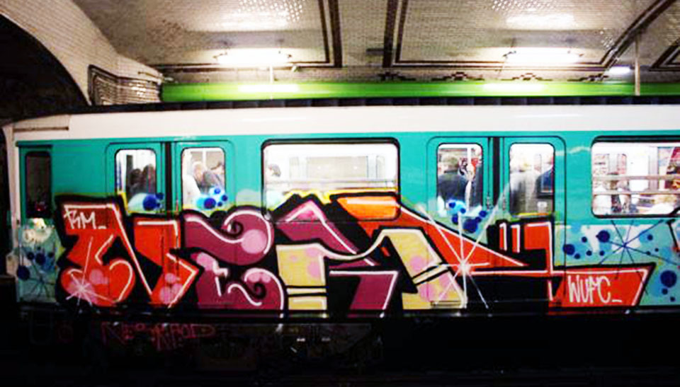 graffiti subway paris france ner wufc intraffic