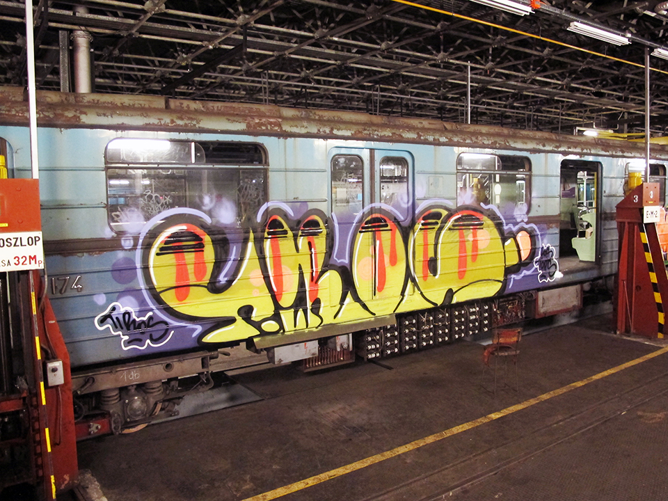 graffiti subway tiros tdpes budapest hungary