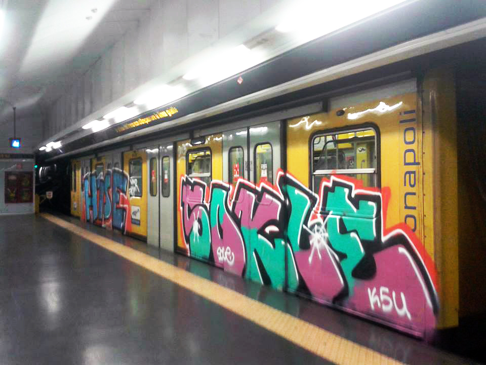 graffiti subway naples italy intraffic exclusive hise sokle