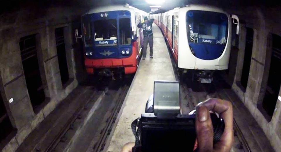 graffiti subway warsaw subway tunnel action photo