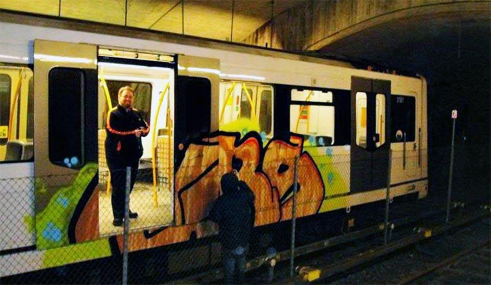 graffiti subway oslo norway backjump action driver