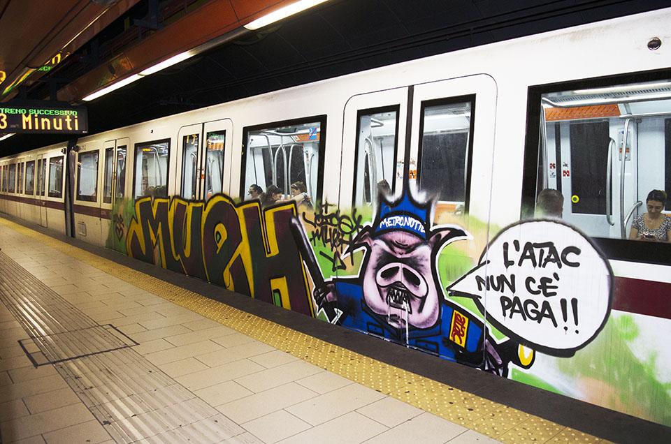 graffiti subway rome running italy mueh