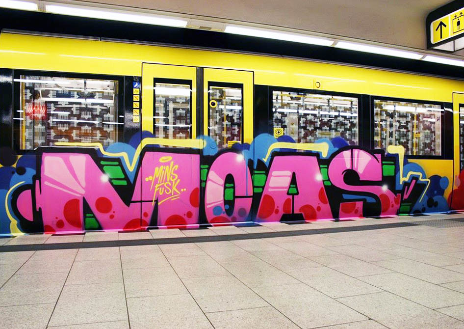 graffiti subway berlin germany moas running