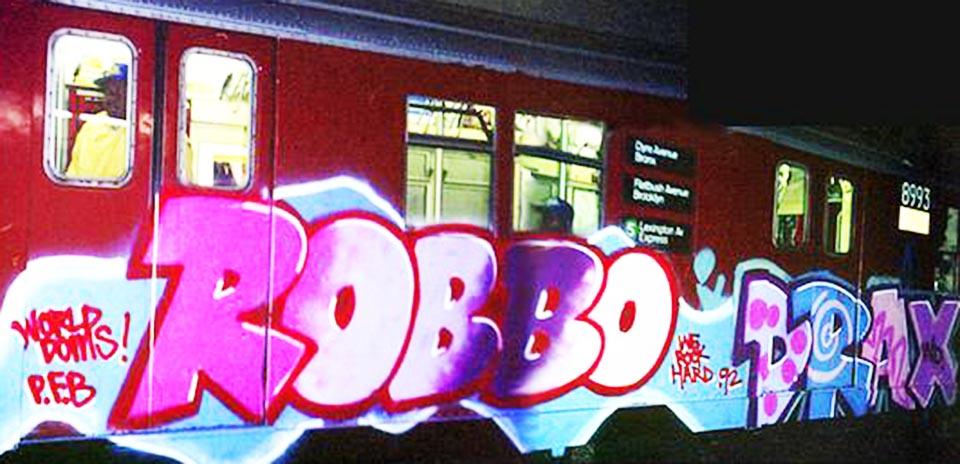graffiti subway 1992 nyc newyork usa kingrobbo rip