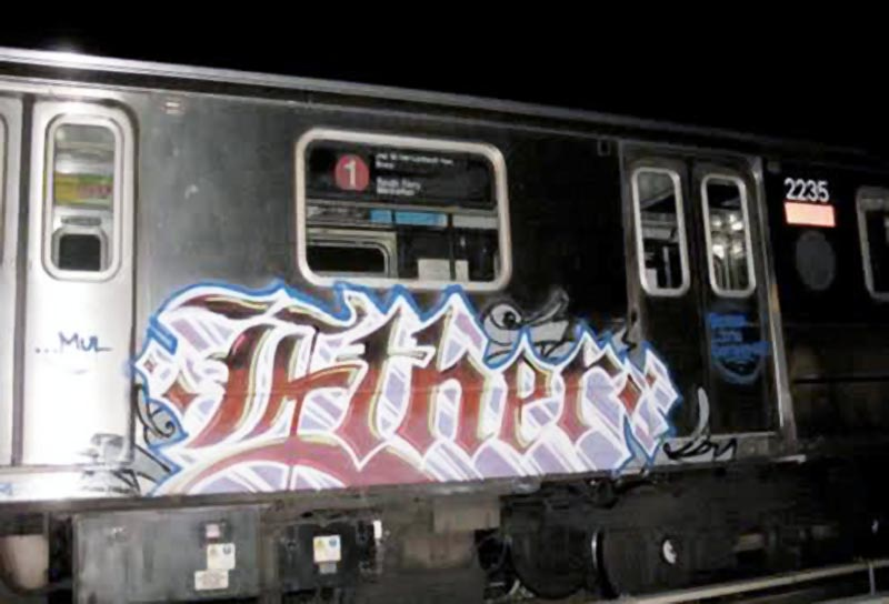 graffiti subway nyc newyork ether