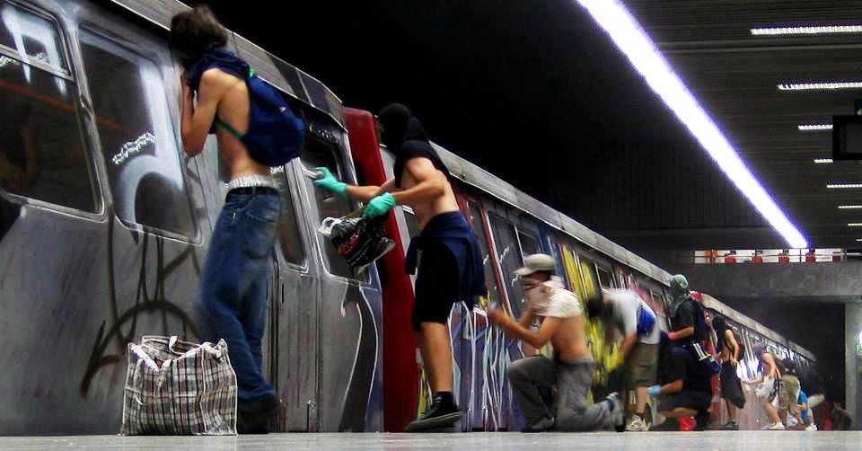 graffiti subway bucharest romania platform action wholecars