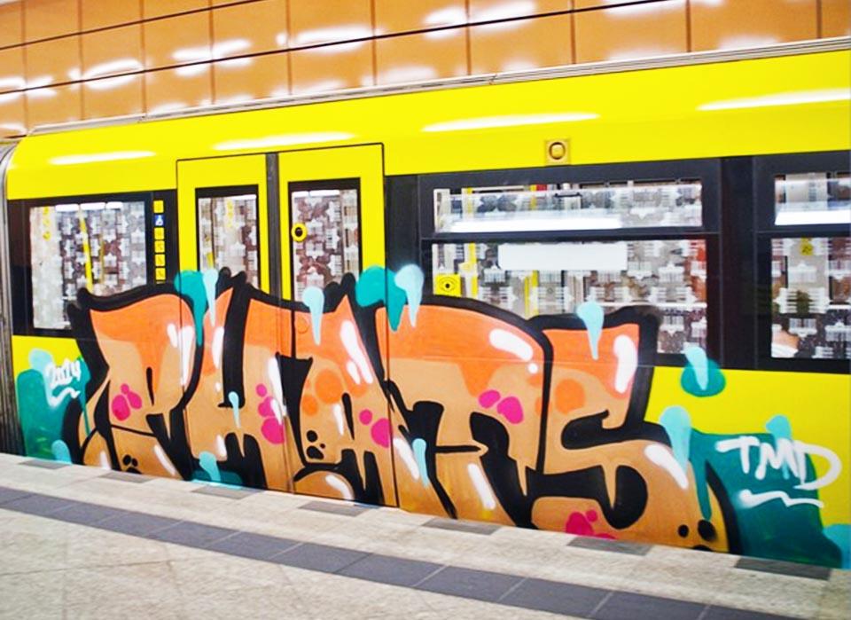 graffiti subway berlin germany running phats tmd 2014