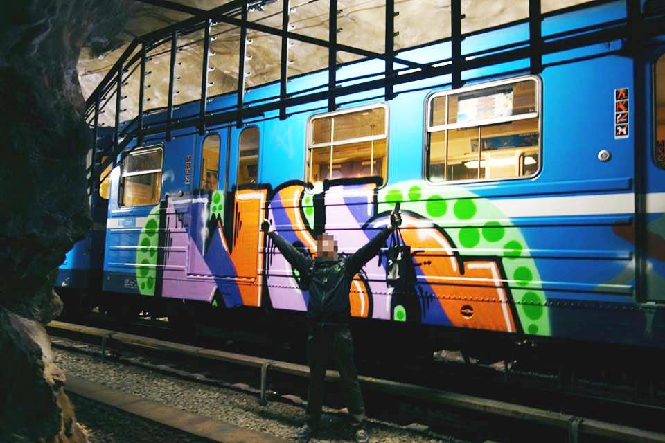 graffiti subway stockholm sweden tunnel wol 2014