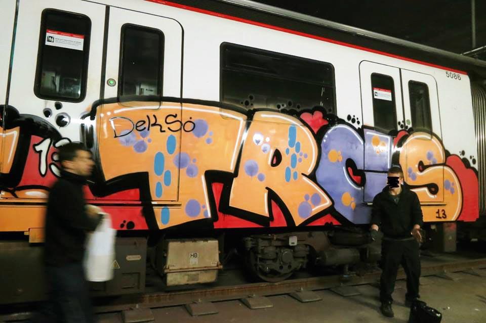 graffiti subway barcelona spain trc deks