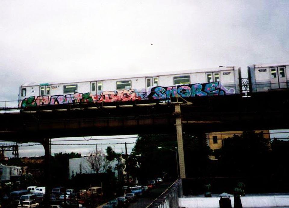graffiti subway nyc newyork usa chintz big shore kingshit backinthedays