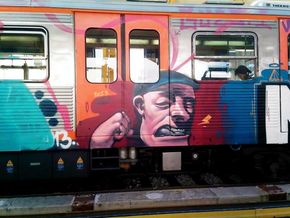 graffiti subway greece athens running