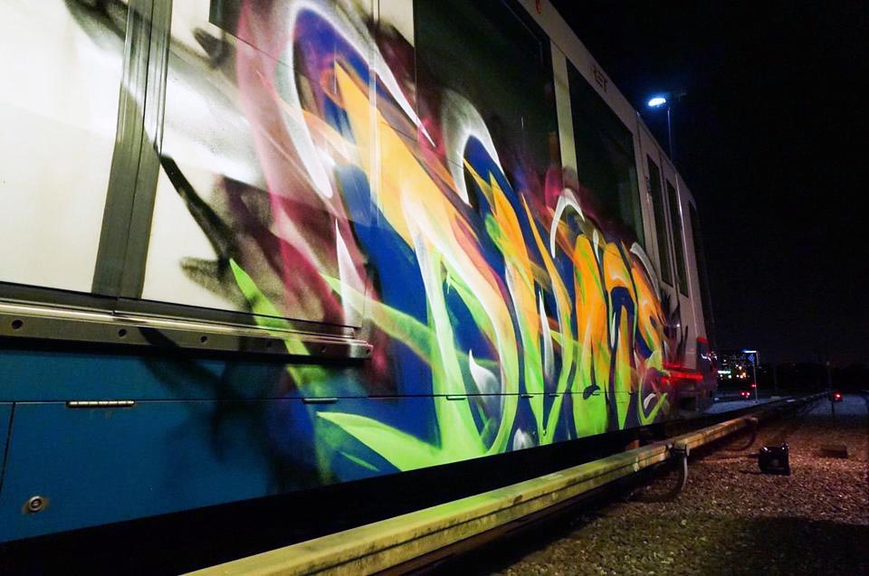 graffiti subway rotterdam holland dvote