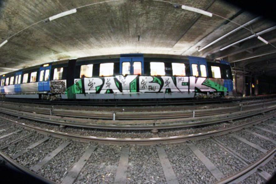 graffiti subway stockholm tunnel payback