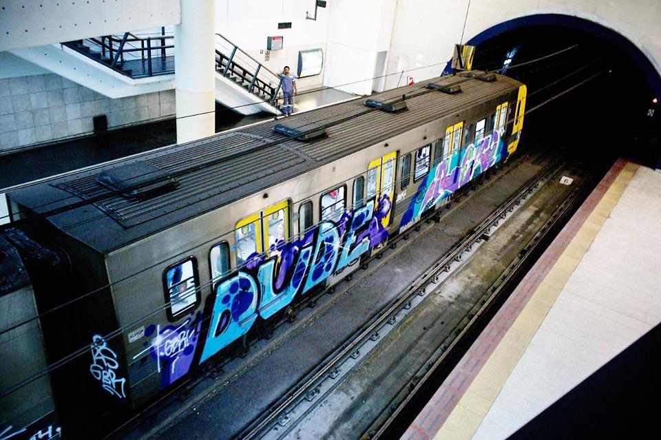 graffiti subway buenos aires running dude reko gbr argentina