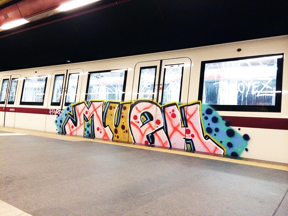 graffiti subway train rome italy aline mueh