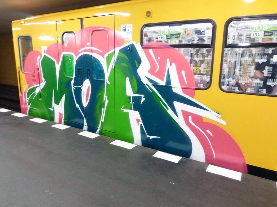 graffiti subway train berlin germany moa 2014 running