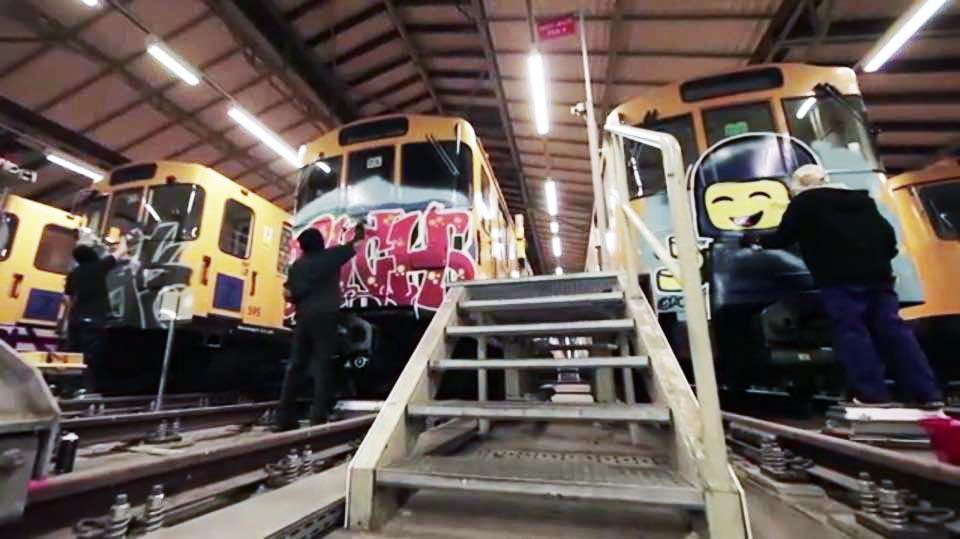 graffiti subway train berlin germany trick fino yard