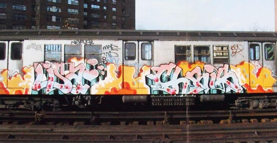 graffiti subway nyc newyork classic lisa chris e2e