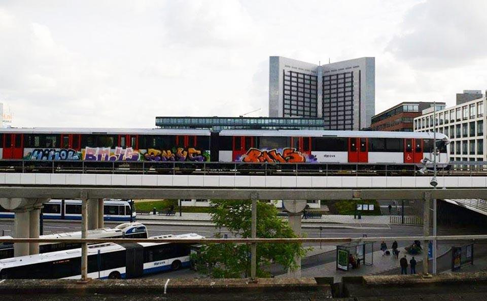 graffiti subway train amsterdam holland bm45 2014