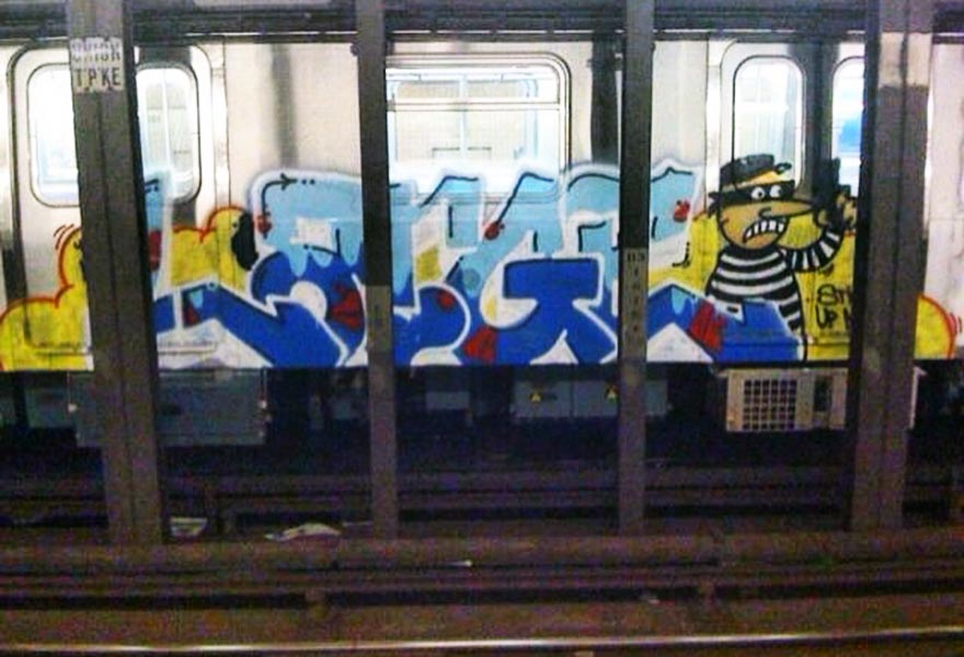 subway graffiti train usa large