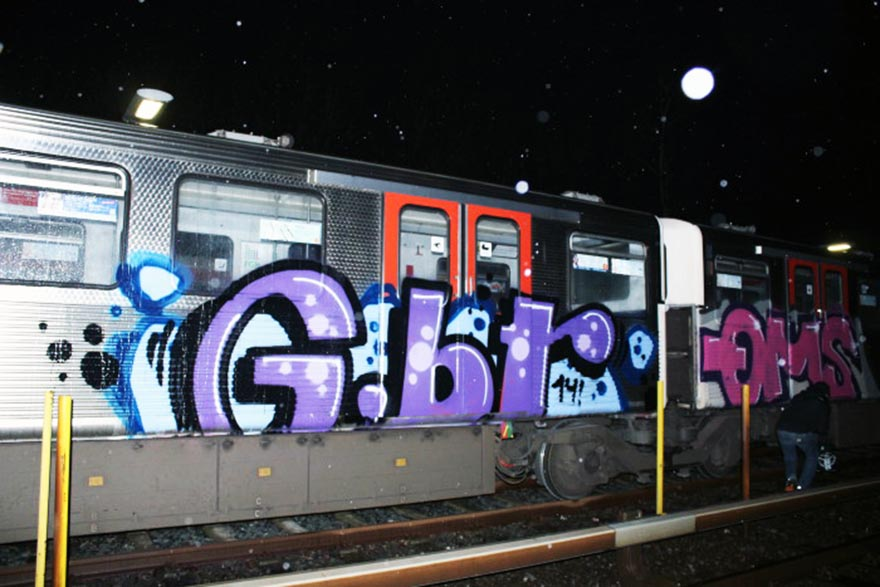 graffiti train subway germany hamburg gbr qms