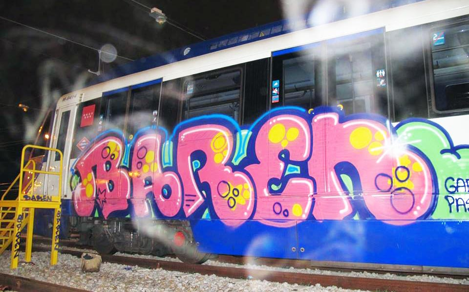 graffiti train subway spain madrid baren