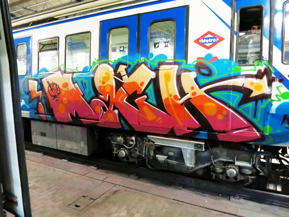 graffiti train subway spain madrid mach kgb