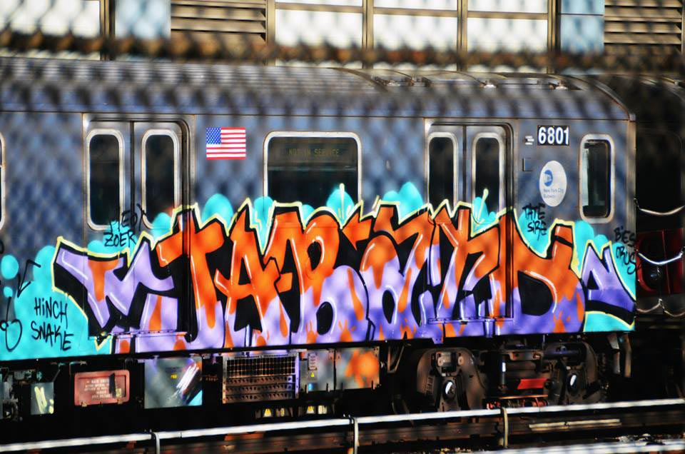 graffiti subway train nyc newyork 2015 usa