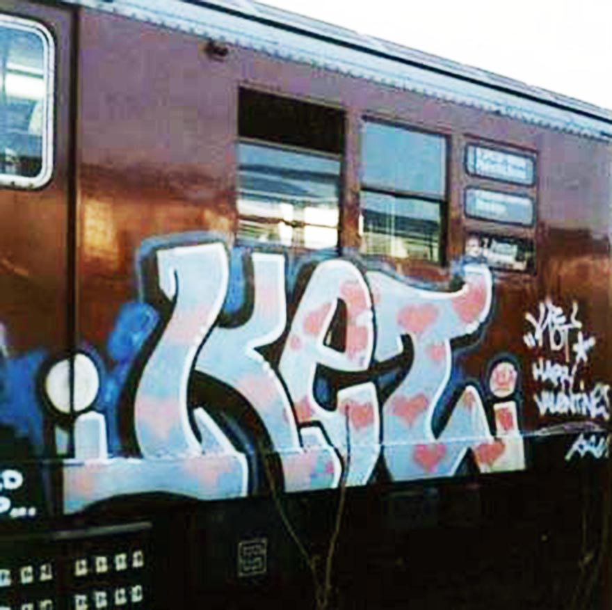 graffiti subway train nyc newyork usa ket ris