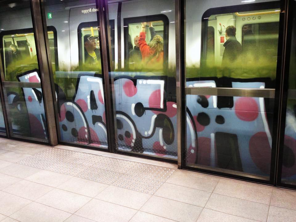 graffiti subway train rash copenhagen denmark